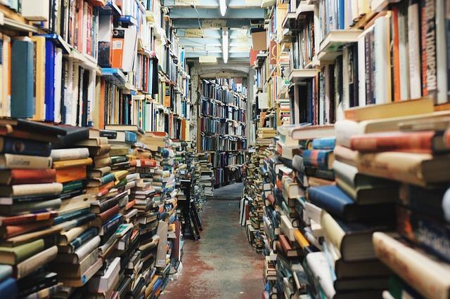 přeplněná knihovna